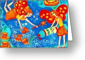 Gold Ceramics Greeting Cards - Fairy liquid Greeting Card by Sushila Burgess