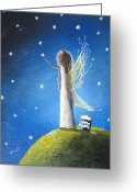 Fairies Art Greeting Cards - Fairy Maker by Shawna Erback Greeting Card by Shawna Erback