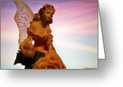 Fairy Statue Photo Greeting Cards - Fairy Princess Greeting Card by Betty Northcutt
