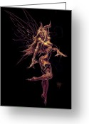 Horns Greeting Cards - Fairy Star Child Greeting Card by David Bollt