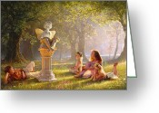 Angel Statue Greeting Cards - Fairy Tales  Greeting Card by Greg Olsen