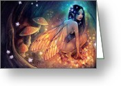 Wings Greeting Cards - Fairydust Nest Greeting Card by Caroline Jamhour