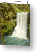 Autumn Photographs Greeting Cards - Fairytale Falls Oasis Greeting Card by Andrea Hazel Ihlefeld