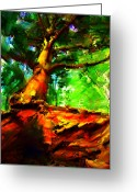 Johnny Trippick Greeting Cards - Fairytale Tree Greeting Card by Johnny Trippick