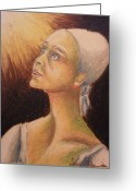 Faith Pastels Greeting Cards - Faith and hope Greeting Card by Agnes Varnagy