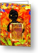 Survivor Mixed Media Greeting Cards - Faith and I Go Everywhere Greeting Card by Angela L Walker