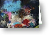 Abstract Prints Greeting Cards - Faith And Patience Greeting Card by Michel  Keck