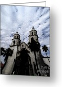 Tucson Arizona Digital Art Greeting Cards - Faith Arizona Greeting Card by Linda Knorr Shafer