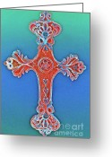 Religious Art Digital Art Greeting Cards - Faith Greeting Card by Gwyn Newcombe