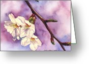 Mother Gift Painting Greeting Cards - Faith Hope and Love Greeting Card by Casey Rasmussen White