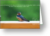 Baby Birds Greeting Cards - Faith Is Greeting Card by Diane E Berry