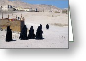 Mourner Greeting Cards - Faith Past and Present - Mourners Greeting Card by Urft Valley Art