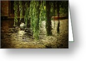 Willows Digital Art Greeting Cards - Faithfully Greeting Card by Lianne Schneider
