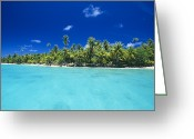 French Polynesia Greeting Cards - Fakarava Atoll Greeting Card by Alexis Rosenfeld