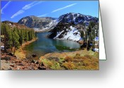 Mountains Greeting Cards - Fall At Ellery Lake Greeting Card by David Toussaint - Photographersnature.com