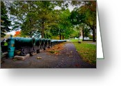 Canons Greeting Cards - Fall at West Point Greeting Card by David Hahn