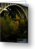 San Rafael Bridge Greeting Cards - Fall bridge arch Greeting Card by Christy Borgman