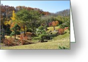 Cheekwood Gardens Greeting Cards - Fall Colors Greeting Card by Denise Ellis