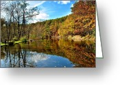 Fisheye Greeting Cards - Fall Fishing Greeting Card by Robert Harmon