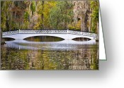 Al Powell Photography Greeting Cards - Fall Footbridge Greeting Card by Al Powell Photography USA