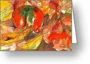 Cultivars Greeting Cards - Fall Harvest Greeting Card by Sharon Mick