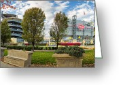 Sewickley . Greeting Cards - Fall Heinz field Greeting Card by Emmanuel Panagiotakis