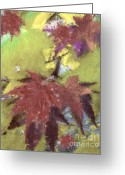 Yellow Trees Greeting Cards - Fall Impressions Greeting Card by Cheryl Young