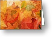 Thanksgiving Art Greeting Cards - Fall Impressions III Greeting Card by Irina Sztukowski