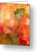 Thanksgiving Art Greeting Cards - Fall Impressions V Greeting Card by Irina Sztukowski