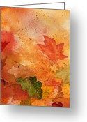 Thanksgiving Art Greeting Cards - Fall Impressions VI Greeting Card by Irina Sztukowski