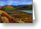 Giclee Prints Greeting Cards - Fall in Alaska Greeting Card by Vidyut Singhal