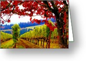 Oregon Greeting Cards - Fall in Dundee Greeting Card by Margaret Hood