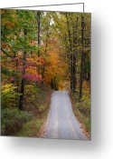 Southern Indiana Greeting Cards - Fall in Southern Indiana Greeting Card by Melissa Wyatt
