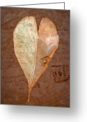 Love Letter Greeting Cards - Fall Love Letters Greeting Card by Cindy Wright