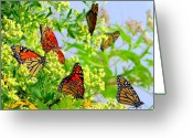 Migration Greeting Cards - Fall Migration Greeting Card by Lisa Scott