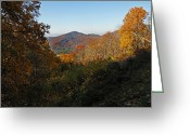 Tenn Greeting Cards - Fall Mountain Pass Greeting Card by Skip Willits