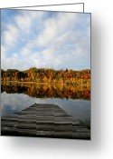 Dj Florek Greeting Cards - Fall on the Lake Greeting Card by DJ Florek
