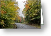 Changing Colors Greeting Cards - Fall Road in Upstate New York Greeting Card by Brendan Reals