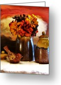 Colors Of Autumn Greeting Cards - Fall Still Life Greeting Card by Marsha Heiken