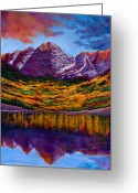 Aspen Trees Greeting Cards - Fall Symphony Greeting Card by Johnathan Harris