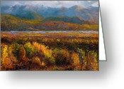 Landscape Painter Greeting Cards - Fall Greeting Card by Talya Johnson