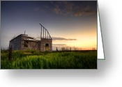 Falling Down Greeting Cards - Fallen Barn Greeting Card by Thomas Zimmerman