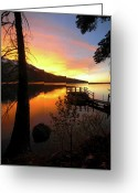 Fallen Leaf Greeting Cards - Fallen Leaf Lake Greeting Card by Jacek Joniec