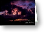 Purple Clouds Greeting Cards - Falling Even More In love With You Greeting Card by Linda Knorr Shafer