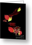Gerlinde-keating Greeting Cards - Falling Leaves Greeting Card by Gerlinde Keating - Keating Associates Inc