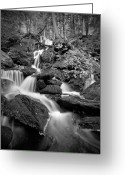 Appalachian Trail Greeting Cards - Falling Water Greeting Card by Bill  Wakeley