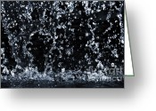 Raining Photo Greeting Cards - Falling water Greeting Card by Elena Elisseeva