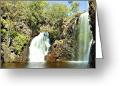 Waterhole Greeting Cards - Falling Waters V2 Greeting Card by Douglas Barnard