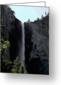 Yosemite Creek Greeting Cards - Falls of Yosemite 7 Greeting Card by LeeAnn McLaneGoetz McLaneGoetzStudioLLCcom
