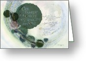 Love Mixed Media Greeting Cards - Family Circle Greeting Card by Judy Dodds